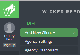 adding clients to your agency dashboard wicked reports