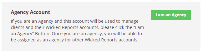 Enabling Agency Reporting Features for Your Wicked Reports Account