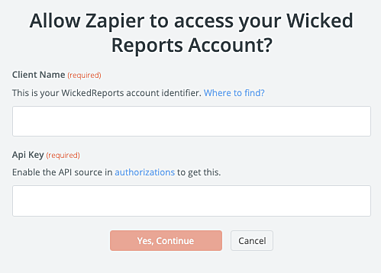 integrating Wicked Reports with Zapier