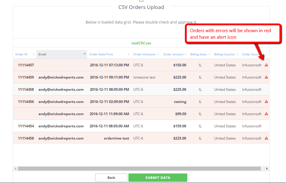 Manual Order Upload With CSV