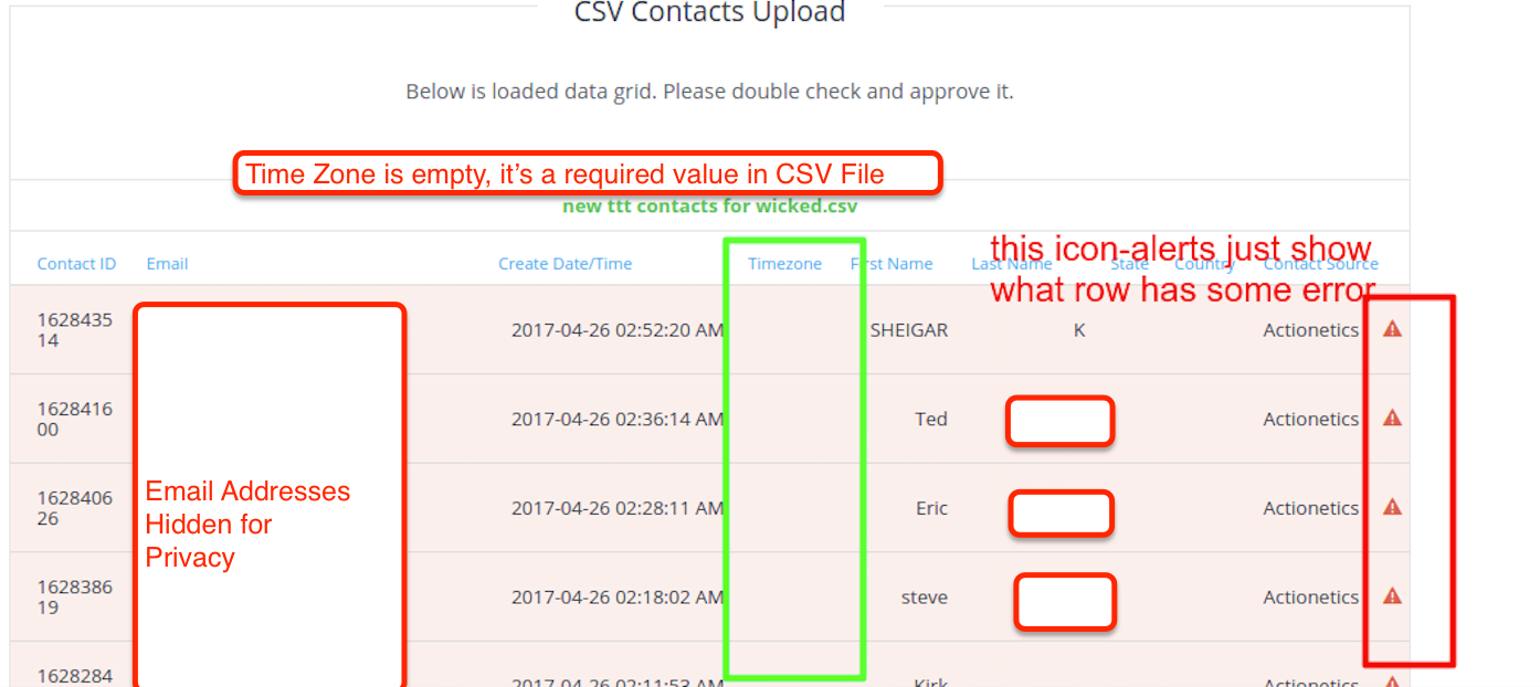 wicked reports manual contact upload with csv