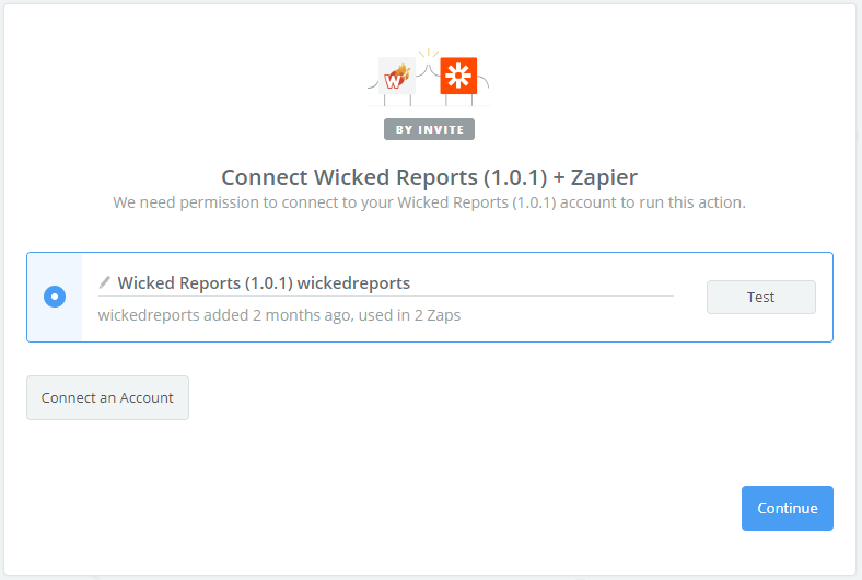 wicked reports Importing Custom Click Events with Zapier