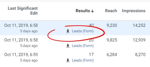 manual import facebook lead attribution