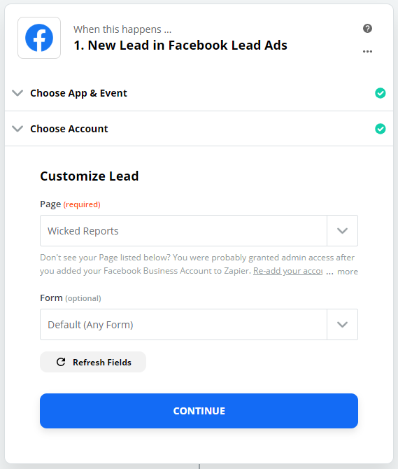 wicked reports Capturing Facebook Lead Ads Tracking and Attribution in Real Time with Zapier