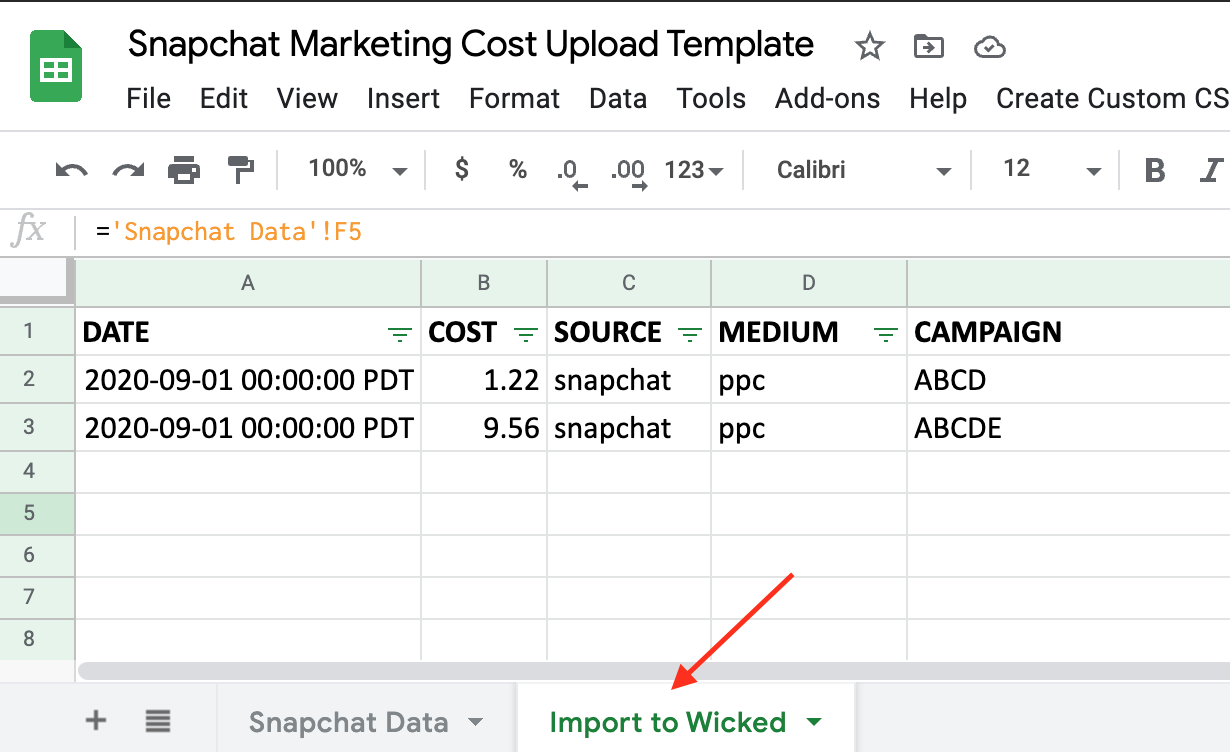 Wicked Reports How to track Snapchat