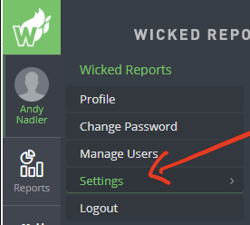 Find your Wicked Reports Client Name or ID