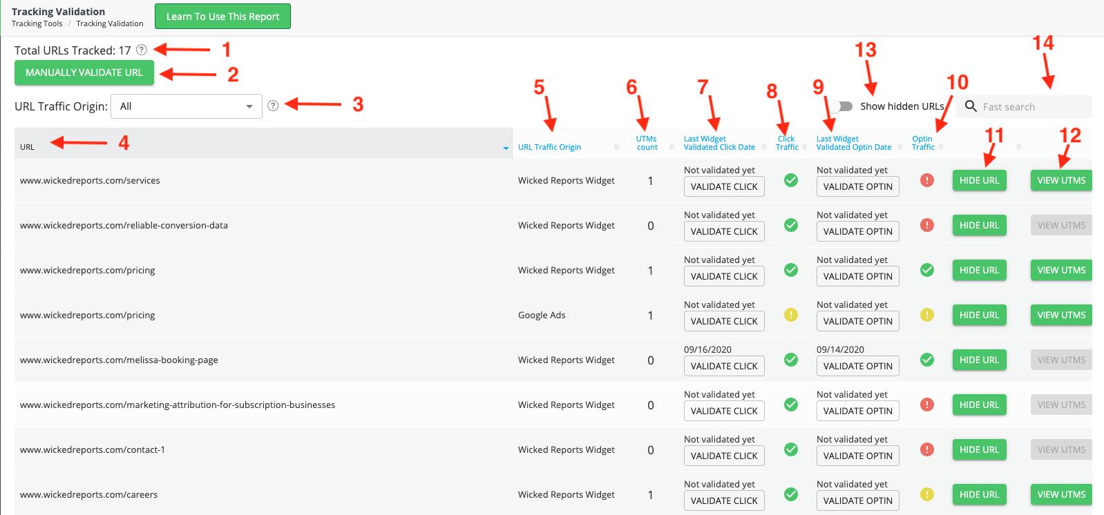 Tracking Validation tool